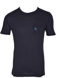 Burberry Men's T Shirt Blue