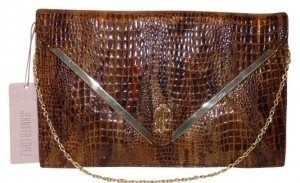 Jennifer Lopez Rochelle/Envelope Brand Brown (Olive) Clutch