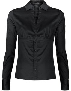 Mango Button Down Shirt Black