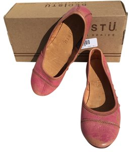 Bed|Stü Distressed Rose Gold Comfort Coral pink Flats