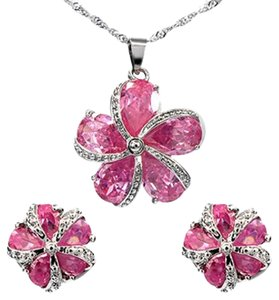 Freestyle Pink Sapphire Gemstones Fashion Jewelry Set