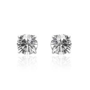 Avital & Co Jewelry 0.62 Carat Round Diamond Stud Earrings 14k White Gold