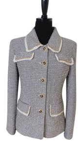 St. John St Couture With Mocha and Cream Jacket