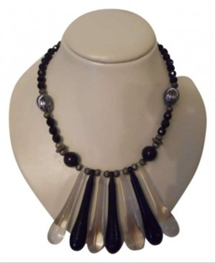 Preload https://item2.tradesy.com/images/black-and-clear-acrylic-necklace-146196-0-0.jpg?width=440&height=440