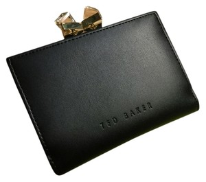 Ted Baker Small Square Crystal Wallet Black Clutch