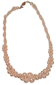 Worthington 12mm Graduating Twisted Double Strand Imitation Pearl Necklace Gold Plated by Roman Worthington