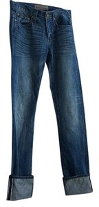 J.Crew Pointe Sur Japanese Selvege Boyfriend Cut Jeans-Medium Wash