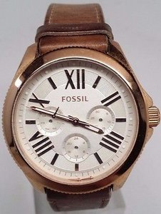 Fossil Fossil Cecile Multi-function Beige Leather Ladies Watch Am4532