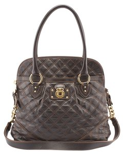 Marc Jacobs Margot Quilted Brown Tote in Purple