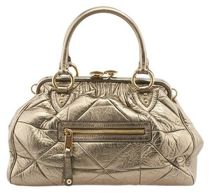 Marc Jacobs Stam Leather Quilted Shoulder Bag