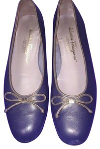 Salvatore Ferragamo Metallic Purple Flats
