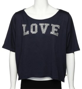 Tommy Hilfiger Crop T Shirt Blue