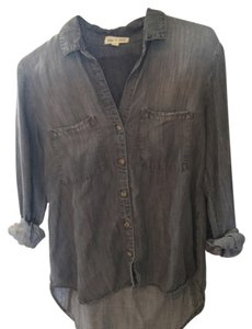 Cloth & Stone Button Down Shirt Grey denim
