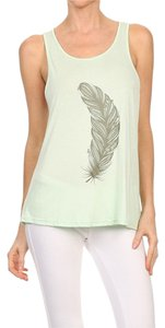 Yelete Casual Detail Comfortable Summer Top Green
