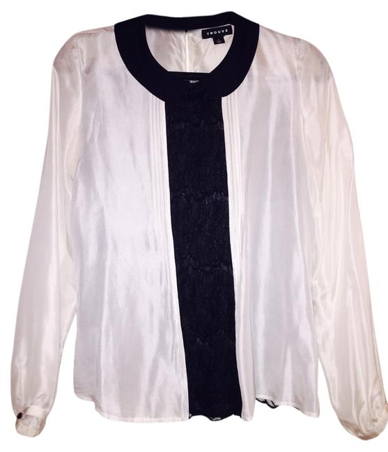 Trouvé Top White Black