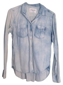 Aéropostale Button Down Shirt Blue and White