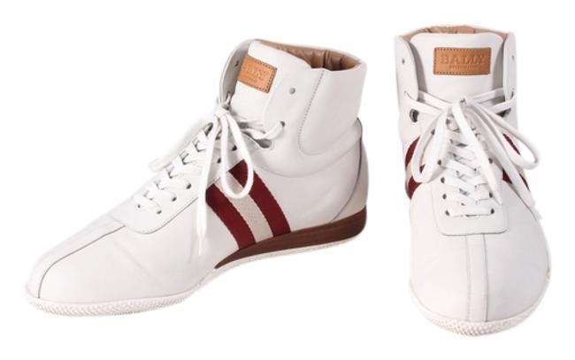 Item - White Leather High-top 10d Sneakers Size US 10 Wide (C, D)