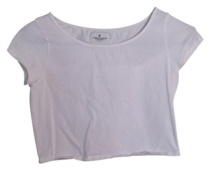 American Eagle Outfitters Crop T Shirt White