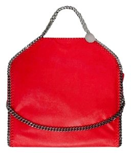 Stella McCartney Chain Tote in Cherry, Red