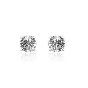 Avital & Co Jewelry 0.20 Carat Round Brilliant Cut Diamond Solitaire Stud Earrings 14k White Gold