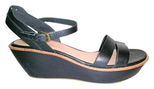 Camper Leather Comfy Platform black Sandals