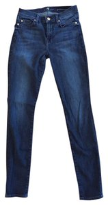 7 For All Mankind Designer Denim Skinny Jeans-Dark Rinse
