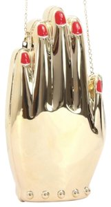 Charlotte Olympia Hand Metal Metal Gold Clutch