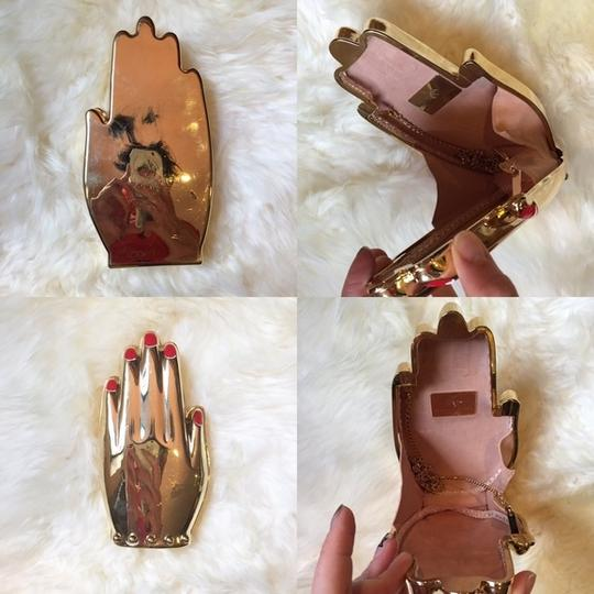 Charlotte Olympia Hand Metal Metal Gold Clutch Image 6