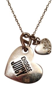 Juicy Couture Silver Juicy Couture adjustable necklace.