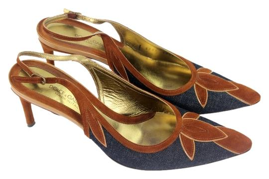 Preload https://item1.tradesy.com/images/dolce-and-gabbana-brown-and-blue-sandals-1462485-0-0.jpg?width=440&height=440