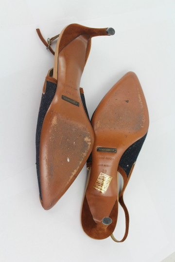 Dolce & Gabbana Brown and Blue Sandals