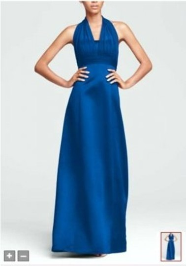 Preload https://item5.tradesy.com/images/david-s-bridal-horizon-blue-satin-empire-ball-gown-with-illusion-halter-style-81441-feminine-bridesm-146249-0-0.jpg?width=440&height=440