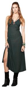 Green Plaid Maxi Dress by Denim & Supply Tartan