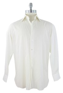 Stefano Ricci Button Down Shirt Ivory