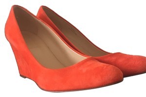 J.Crew Bright Pomegranate (orange) Wedges