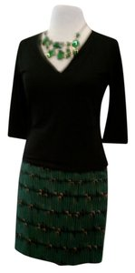 The Limited Size 2 Shorter Lined Pretty Skirt emerald green print