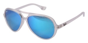 Ray-Ban Ray Ban Cats 5000 Matte Clear Sunglasses RB 4125