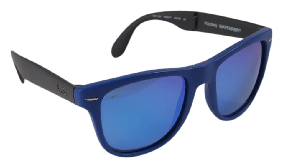 706f0361f5c Ray-Ban Blue Black   Rb4105 Folding Wayfarer Sunglasses - Tradesy