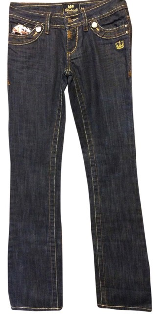 Item - Dark Blue Rinse Women's with Bling Back & Front- - Nwot Skinny Jeans Size 24 (0, XS)