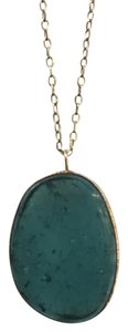 Michelle Lanae Michelle Lanae 14K Bezel Set Tourmaline Slice Necklace