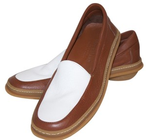 Cole Haan Tan and White Flats