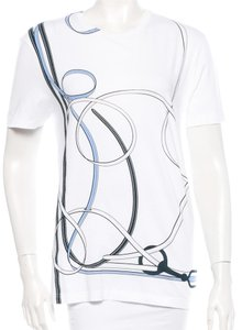Gucci Cotton Logo Monogram Short Sleeve T Shirt White, Blue