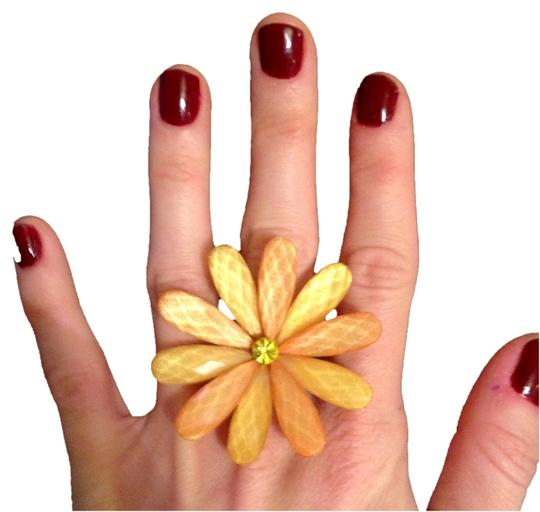 Other Yellow/Orange Adjustable Flower Ring