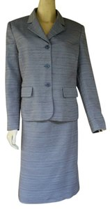 Le Suit LE SUIT Blue Tweed Career Skirt Suit 14