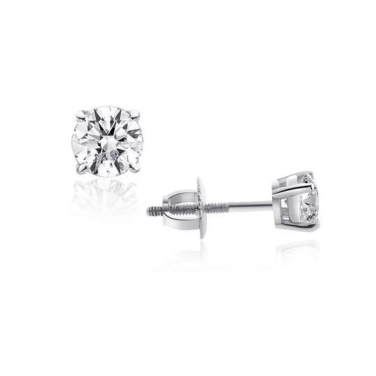 Avital & Co Jewelry 14k White Gold 1.10 Ct Round Brilliant Cut Diamond G/Si2 Stud Earrings Image 1
