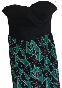Black, green Maxi Dress by Charlotte Russe Maxi Strapless Sweetheart