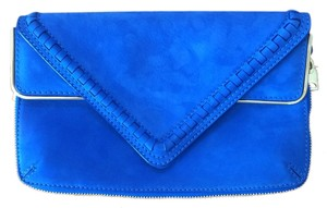 Brian Atwood Suede Purse cobalt blue Clutch