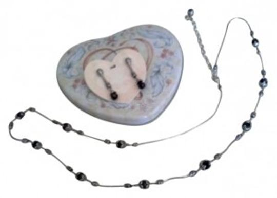 Preload https://img-static.tradesy.com/item/146274/brighton-silver-with-black-glass-and-earrings-necklace-0-0-540-540.jpg