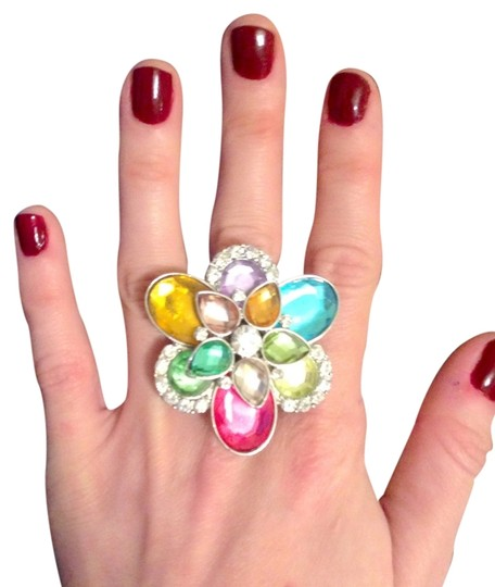 Other Colorful Crystal Adjustable Ring