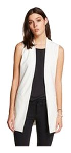 Other Suit Ivory White Women Long Vest